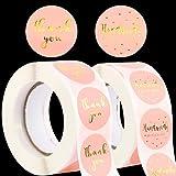 1000pcs 2,5cm Papel Pegatinas Handmade with Love Thank you Etiquetas Adhesivas Redondas Gracias Decoración Cajas Bolsas Sobres Regalos Invitados Boda Fiesta Navidad