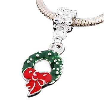Andante-Stones - 925 Plata, Cuenta Colgante Corona de adviento, Elemento Bola para Cuentas European Beads + Saco de Organza