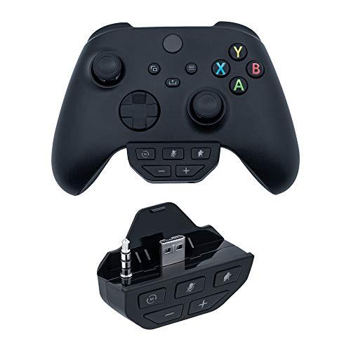 Mcbazel Headset Controller Sound Enhancer Audio Mic Adapter per Xbox One con jack da 3,5 mm/controller Xbox serie S/serie X - nero
