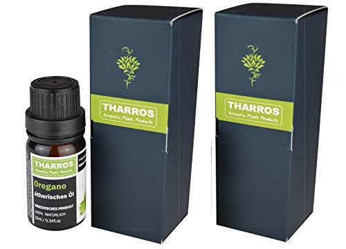 2er-Pack Tharros Oregano Öl zum Einnehmen – 100% ätherisches Oreganoöl aus Griechenland, Origanum vulgare hirtum, 2x 10ml in Premium Qualität, Carvacrol,oregano oil,
