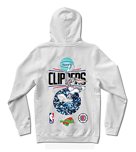 Diamond Supply Co X Space Jam Los Angeles Clippers Kapuzenpullover - Weiß - X-Large