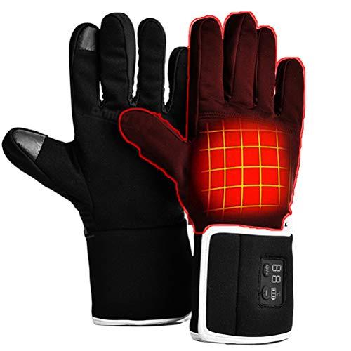AYily Guantes calefactados para trabajo, ciclismo, caza, escalada, deportes con sensor táctil, pantalla táctil, guantes de invierno para jardinería, constructores, mecánicos