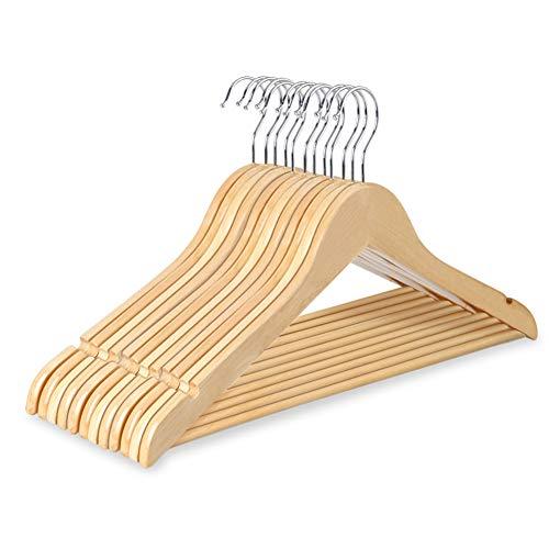 ハンガー 木製ハンガー 洗濯ハンガー 物干しハンガー 衣類ハンガー U型滑り止め 12本組セット ワンピース ...