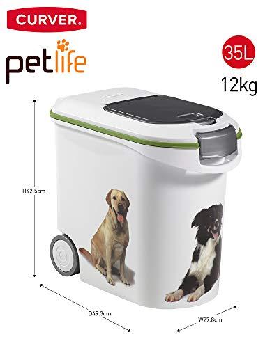 Curver 03905-P70-00 Pet-Futter-Container 12 kg, 49.3 x 27.8 x 42.5 cm, 35 L - 12