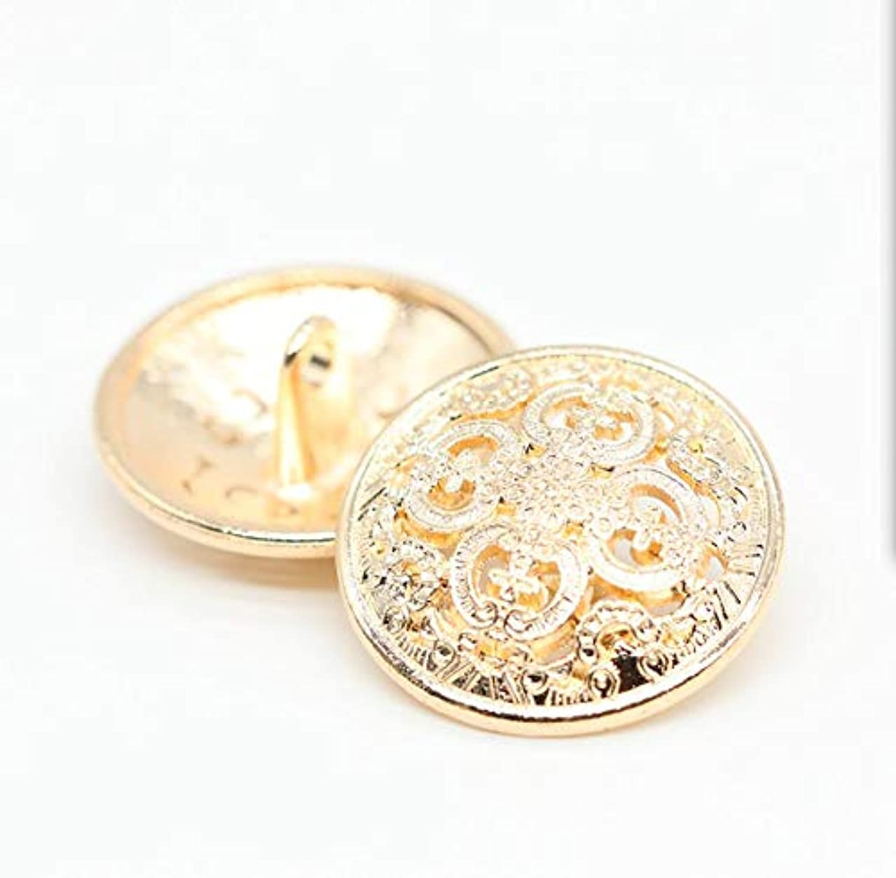 ZQMALL New 10 pcs 1 inch Metal Jacket Button,Blazer Button Set,Hollow Metal Sewing Button - 25mm Antique Vintage Beautiful Suits Button Set for Blazer, Suits, Coat, Uniform, Jacket,Gold,Q2023