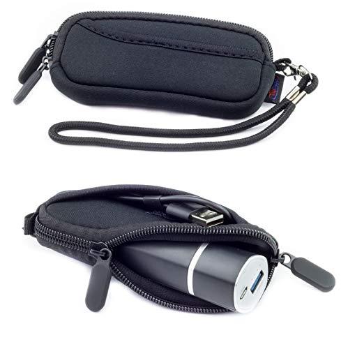 Schwarz Neopren-Hülle Tasche für Poweradd Slim2, Anker PowerCore 5000, Anker PowerCore+ mini 3350mAh, Bonai 5800mAh, Schlank Externer Akku Powerbank Ladegerät Tragen Tasche Hülle 11 X 3.5 X 3.5 CM