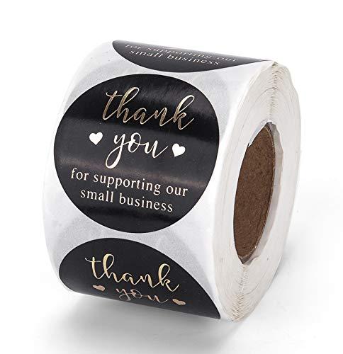 Danke Aufkleber, 5cm/2inch 500 Runde Thank you Stickers Etiketten für Geschäft, Online-Einzelhändler