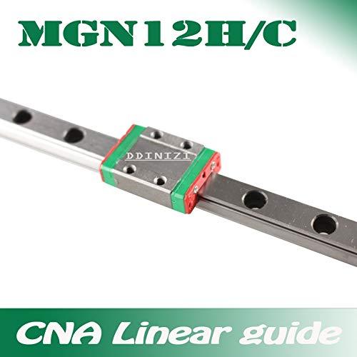 Ochoos - Guía lineal de 12 mm MGN12 100 150 200 250 300 350 400 ...