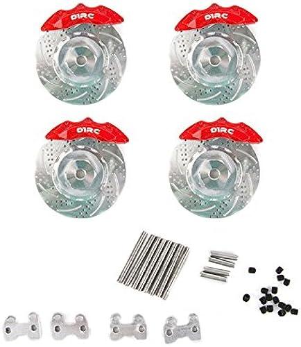 LaDicha D1RC Rock Crawler Disc Bremss el für 1 10 SXC10 90046 TRX-4 RC Auto Teile - Rot