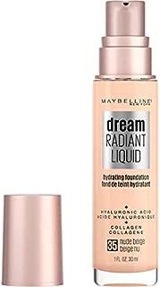 Maybelline Dream Radiant Liquid Medium Coverage Hydrating Makeup, Lightweight Liquid Foundation, Nude Beige, 1 Fl. Oz