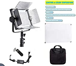 MEELMAXX Dimmable Bi-Color LED with U Bracket Professional Video Light for Studio, YouTube Outdoor Video Photography Lighting Kit, Durable Metal Frame, 340 LED Beads, 3200-5600K, CRI 97+