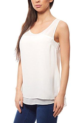Ashley Brooke by Heine Shirt Blusentop Damen Bluse Top Weiß, Größenauswahl:38