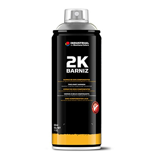 Montana Colors MTN Spray Barniz 2K (2 componentes) - Spray Barniz Brillo, Acabado Brillo, 400 ml
