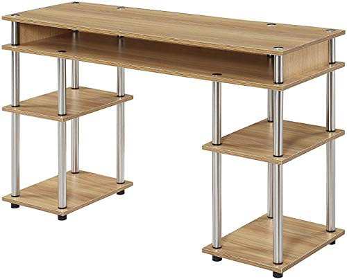 Convenience Concepts Designs2Go No Tools Student Desk, Light Oak