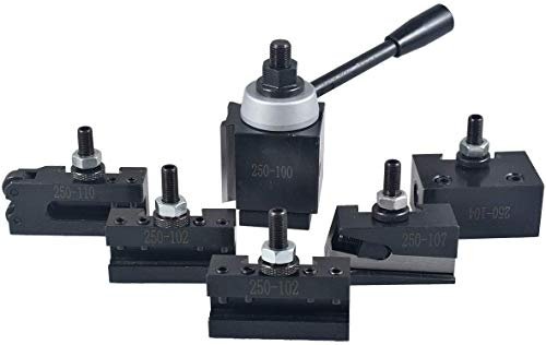 Buy sthus AXA Size 250-100 Set Piston Type Quick Change Tool Post Set for Lathe 6-12 USA