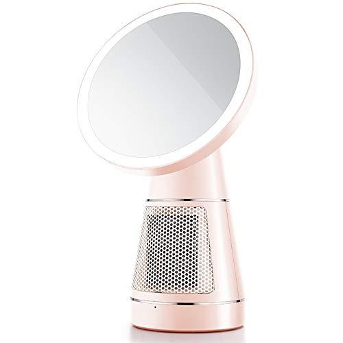 Miroirs Cosmétiques de Table LED Maquillage Annulaire For Le Maquillage Miroir Chauffe-500W D'économie D'énergie 3 Niveaux De Luminosité Peut Protéger Le Contrôle Des Yeux For La Lecture Tactile De Ma