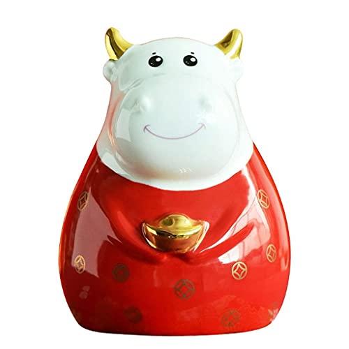 LUXMAX Hermosa Bancos de Dinero de los niños Red Maverick Piggy Bank Creativo Mascota Piggy Bank, Boys and Girls Hard Piggy Bank (Rojo) Caja de Ahorro de Dinero