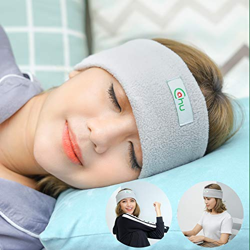 Sleep Headphones Eye Mask Perfect for Sleeping, Anti Snoring and The Best Headphones Sleep Design Ideas for Sports, Air Travel, Meditation and Relaxat (Grey)
