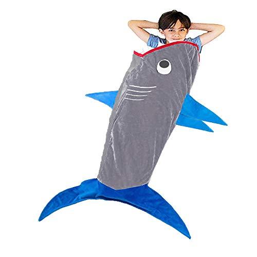 Comb Hai-Decke Schwanz für Kinder - Shark Schlafsäcke, Super weich und bequem All Seasons Schlafsack Sofa Wohnzimmer Quilt.Weihnachts und Geburtstagsgeschenke für Kinder und Jugendliche