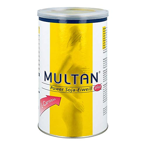 Multan Power Soja-Eiweiß plus L-Carnitin Pulver, 500 g Pulver