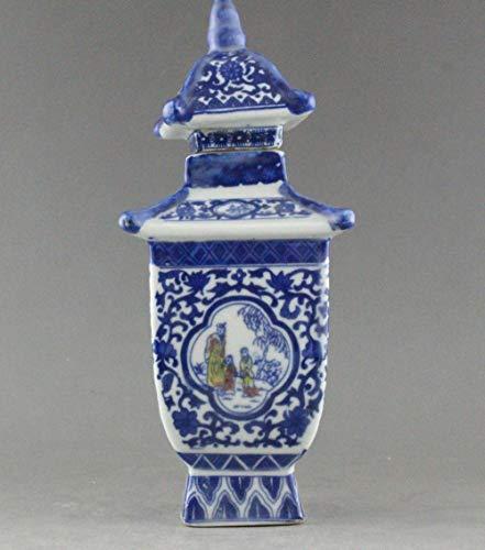 BENGKUI Skulptur,Exquisite China Jingdezhen Blaues Und Weisses Porzellan Vase Jar Qianlong Mark
