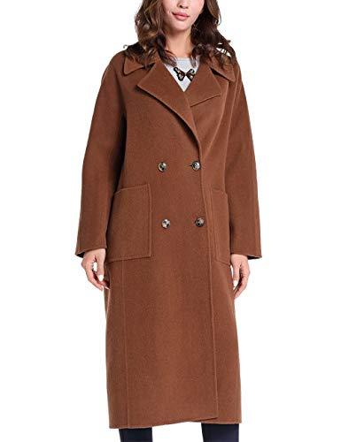 APART Fashion Damen Wool Coat Wollmantel, Karamell, 36 EU
