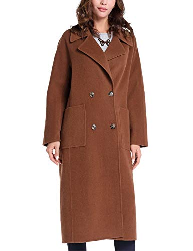 APART Fashion Damen Wool Coat Wollmantel, Karamell, 44 EU