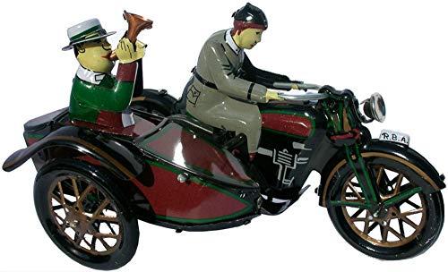 CAPRILO Juego Decorativo de Hojalata Moto Sidecar  Réplicas