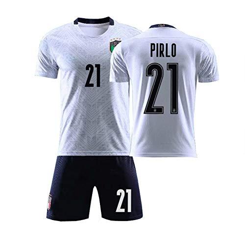 Calcio Abbigliamento Uomo 2020 Coppa Europea Italia Squadra Nazionale Manica Corta Maglia Calcio Jersey per Ragazzi Traspirante e Confortevole, S-2XL Wcbhb Bianco 4 M