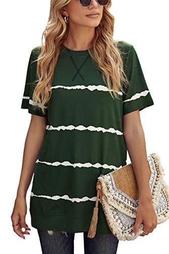 GOLDPKF Damen T-Shirt Hemd Damen Sportjacke Damen Klamotten Teenager MäDchen NachtwäSche Damen Korean Fashion Meine Bestellungen Anzeigen Amazon GrüN Small 36-38