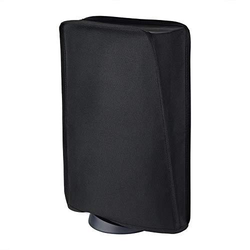 PlayVital Tasche für PS5,Staubschutze Hülle Spritzwasserdichte Cover für DualSense 5,Schutzhülle Abdeckung Case für Playstation 5 Konsole Digital Edition&Regular Edition(Schwarz)