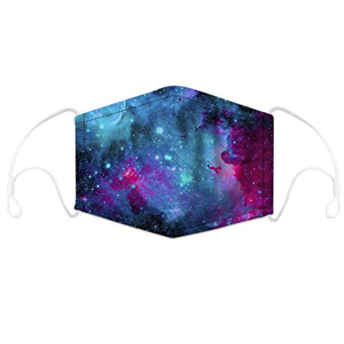 Vogseek Unisex Seamless Bandana 3D Starry Sky Print 5 Layers Face Cover Windproof Face Towel Motorcycle Face Sporting Running Hiking Mouth Cloth for Men Women Boys Girls