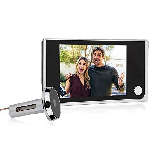 Inicio Smart Video Timbre inalámbrico Cámara de Seguridad Visual Door Electrónico Cat Eyes 3.5 Pulgadas Digital LCD 120 Degree Mirilla Visor Photo Visual Monitoring