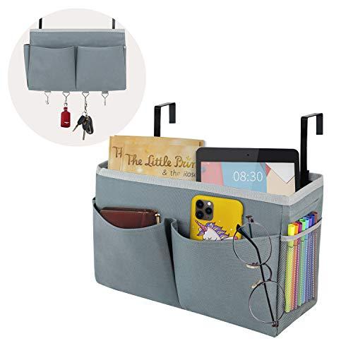 Zebricolo ベッドサイド ポケット 吊り下げラック 小物整理ラック 掛け袋 車用 収納ポケット 入院時の便利グッズ 学生寮に収納ラック 雑貨収納 小物入れ 卓上 家庭用品