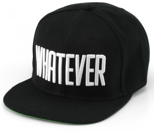 Whatever® - Snapback Bestickt mit Schriftzug | Whatever | Baseball Cap | Größenverstellbar | Cap Hut Mütze Cappy Basecap - whatever