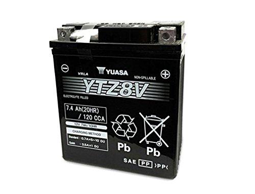 Batería Yuasa YTZ8V(WC) de alto rendimiento y sin mantenimiento