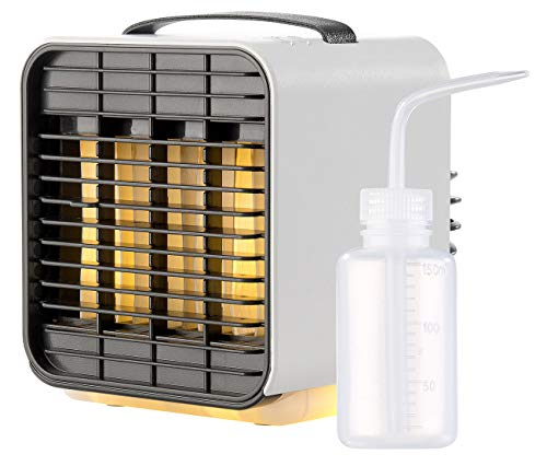 Sichler Haushaltsgeräte Klimawürfel: Mobiler Mini-Akku-Luftkühler, 3-stufig, Nachtlicht-Funktion, 5 h Lz. (Mini Kühler)