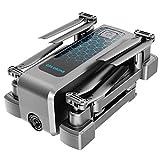 RCドローン4KHDカメラ、Wifi FPVオプティカルフローデュアルカメラ、折りたたみ式4軸ドローン安定化PTZ50倍ズーム,Four battery