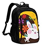 IUBBKI Bolsa para computadora mochila USB Easter Bunny. Please See Some Similar Pictures in My Lightboxs Office & School Supplies with USB Data Cable and Music Jack Laptop Bags Computer Notebook 18.1X