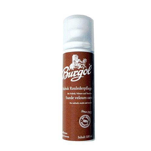 Burgol Nubuk Raulederpflege 100 ml, Wildlederpflege für Nubuk Velour und Textilien 9 Farben (Hellbraun)