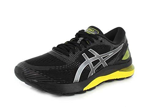 ASICS Gel-Nimbus 21 Platinum - Zapatillas de running para hombre, Negro (Black/Lemon Spark), 44.5 EU