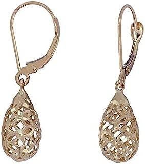 Park & Luxe 14K Gold Openwork Teardrop Earrings