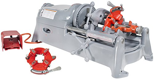 RIDGID 535 V1 Pipe Threading Machine with 811A Die Head Extra Head Alloy Steel Dies and Reamer (Renewed)