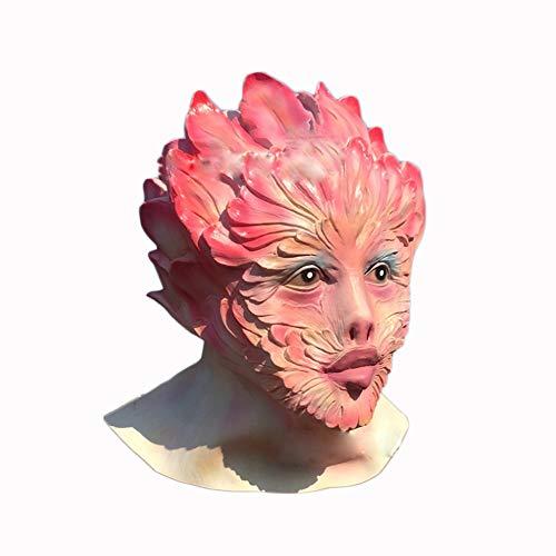 XINXIN Lattice Fiore Diavolo Testa Set Halloween Orrore Fata Performance Maschera