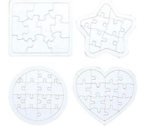 STOBOK 4pcs niños para Colorear Puzzle en Blanco Bricolaje Rompecabezas de Papel Rompecabezas