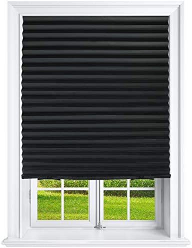 Estilo Pleated Paper Shades Room Darkening Blinds Black 36 x 69 Pack of 6 Temporary Shades product image