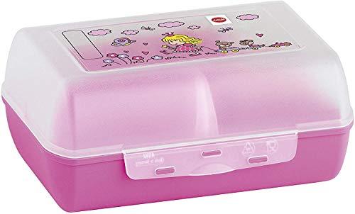 Emsa 513794 VARIABOLO, Boîte à goûter enfant, cloisons amovible, 16x11x7cm rose, Princesse