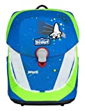 SCOUT Sunny II Schulranzen Set 4 tlg. Safety Light Blue Space