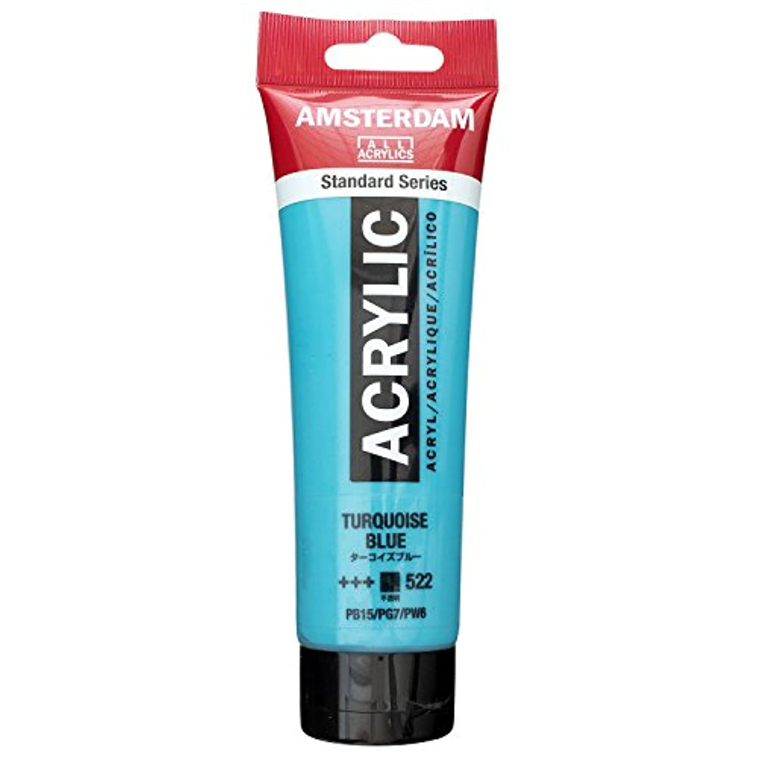 Royal Talens Amsterdam Standard Series Acrylic Color, 120ml Tube, Turquoise Blue (17095222)