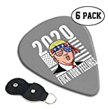 Donald Trump 2020 Funny 6 Pack Guitar Pick Unique Guitar Gift For Bass, Electric & Acoustic Guitars 0.96mm-0.71mm-0.46mm